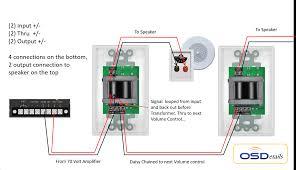 25 watt commercial 70v high power mono in wall rotary style volume
