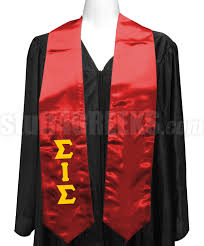 sorority graduation stoles sigma iota sigma multicultural sorority satin graduation stole