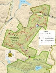 foothill cus map hikes in foothills park