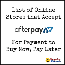 stores that accept afterpay to buy now pay later