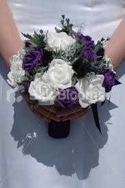 Bouquet For Wedding Purple U0026 White Rose Scottish Bouquet W Dark Purple Thistles