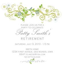 retirement invitations patty retirement invitation sle invitations online