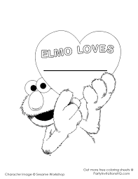 elmo valentines coloring pages for preschool funycoloring