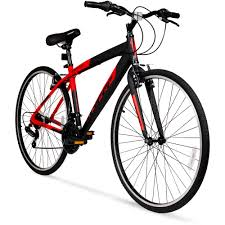 700c hyper spinfit men u0027s hybrid bike red walmart com