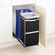 Kitchen Cabinet Garbage Drawer Amazon Com Simplehuman Under Counter Pull Out Recycler 35 Liters