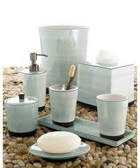 White Bathroom Accessories Set by Kassatex Tribeka Bath Accessories Collection Seafoam Hayneedle