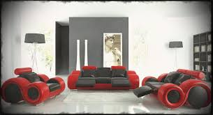 Funky Leather Sofas With Black And Red Color For Ultra Modern - Funky ideas for bedrooms