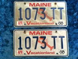 Maine State Vanity Plates 49 Best Vintage License Plates Images On Pinterest License