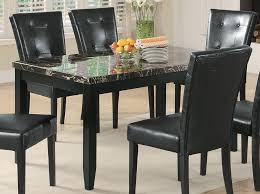 Dining Tables With Marble Tops Coaster Anisa Dining Table Black Marble Top 102791 At Homelement