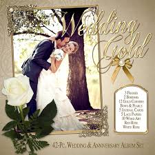 scrapbook for wedding digital scrapbook kits floral collection wedding gold
