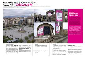 pamplona town hall awareness campaign against vandalism dog
