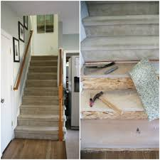 Plywood Stairs Design Painted Staircase Makeover With Seagrass Stair Runner
