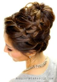 easy updo hairstyles for long hair step by step epic braid bun