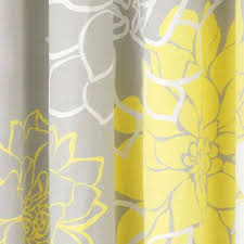 Grey And Yellow Shower Curtains Park Lola Shower Curtain