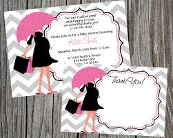 combo special modern mom baby shower invitation and thank you