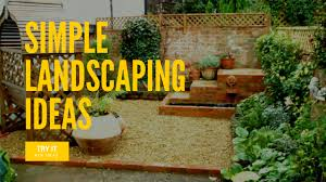simple landscaping ideas easy diy landscaping projects ideas