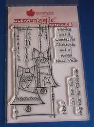 woodware u0027christmas bells u0027 festive clear stamps craft house
