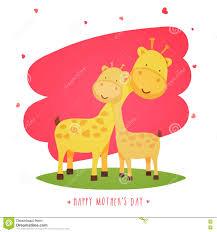 s day giraffe giraffe with baby giraffe for s day stock