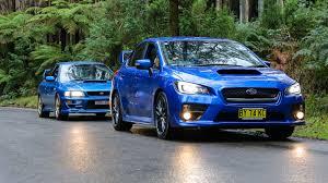 old subaru sports car subaru wrx sti old v new comparison 2015 sedan v 1999 two door
