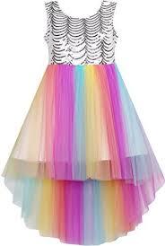rainbow dress amazon com
