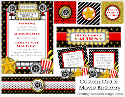 movie themed birthday party invitations alanarasbach com