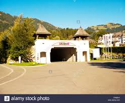 austria kitzbuhel europe hotel a rosa kitzbühel entrance driveway