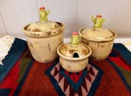 cactus and coyote kitchen canister set southwestern ceramic