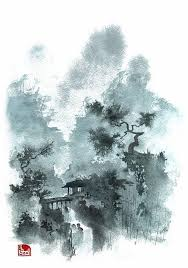 another little chinese landscape inspired watercolor