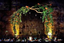 Hanging Decor From Ceiling hanging wedding centerpieces ruffled