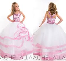 beautiful ball gown cute little girls pageant dresses with