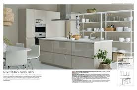 cuisine façade voxtorp beige brillant idées pour la maison