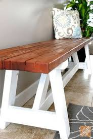 2x4 farmhouse bench build it for less than 20 the creative