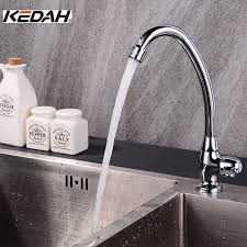 cucina kitchen faucets shop kedah single handle brass kitchen faucets classic deck