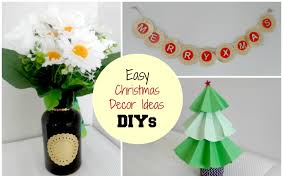 easy christmas home decor ideas diy christmas home decor ideas x mas tree vase wall art