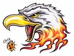 eagle tattoo clipart flaming eagle tattoo hanslodge cliparts