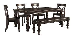 signature design by ashley gerlane dark brown 8 piece dining room