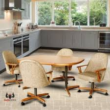 kitchen table with swivel chairs caster dinette sets dining table set with swivel caster dinette chairs