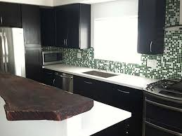 California Kitchen With Live Edge Bar And Black Cabinets - California kitchen cabinets