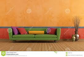 green red and orange living room stock photo image 30390770