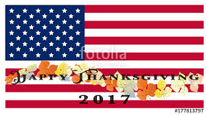 us happy thanksgiving flag with leaves happy thanksgiving day