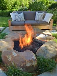 Propane Fire Pits With Glass Rocks by Diy Propane Fire Pit Houzz