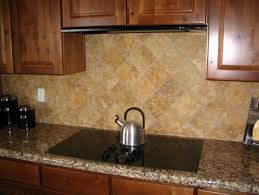 Traditional Kitchen Backsplash Ideas - simple stone tile kitchen backsplash how to set stone tile