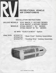coleman mach air conditioner installation manual ac gallery