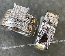 his and hers wedding sets unbranded sterling silver engagement wedding ring sets ebay