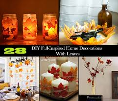 28 diy fall inspired home decorations with leaves amazing diy