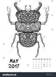 may 2017 calendar line art black stock vector 496521520 shutterstock