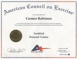 searchaio ace personal training certification