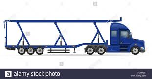 semi trailer truck truck semi trailer for transportation of car vector illustration