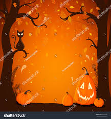 black cat halloween background vector illustration halloween poster background trees stock vector