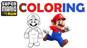 super mario run coloring pages learning colors compilation